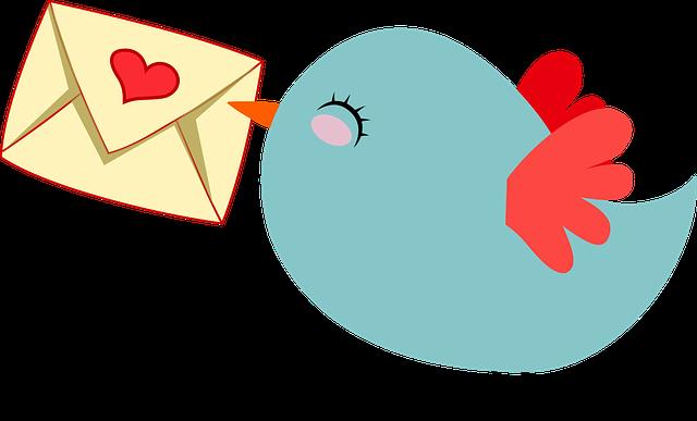 ptáček s psaníčkem