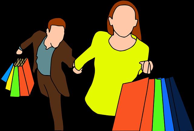 pár na nákupech