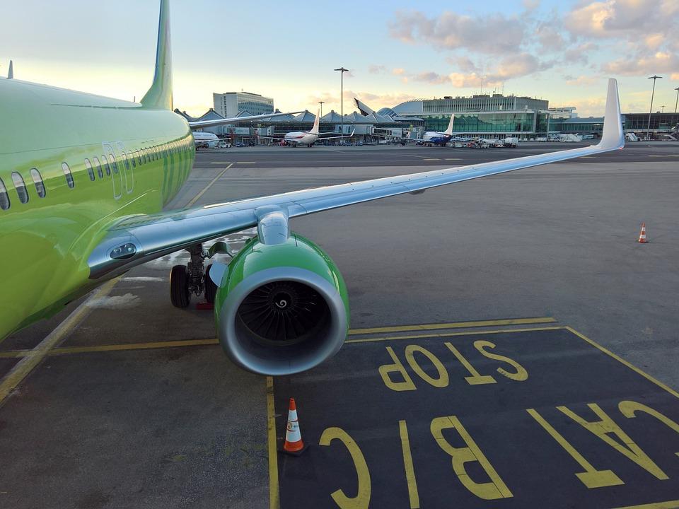 zelené letadlo
